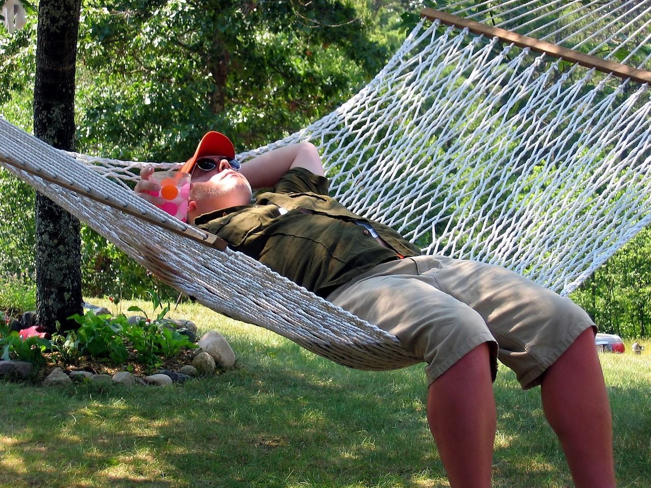 Kickin back in a hammok