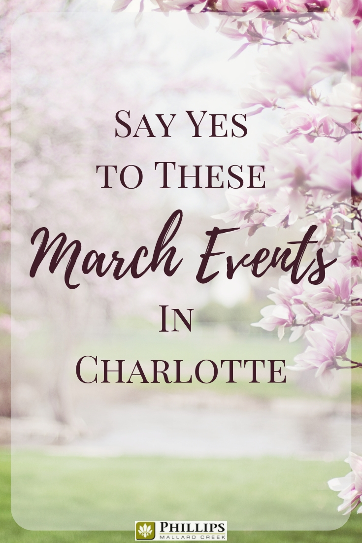 Say Yes to These March Events in Charlotte | Phillips Mallard Creek Apartments