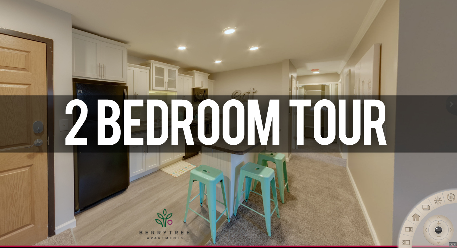 Virtual Tour 2 Bedroom Apartment at Berrytree Apartments Near Michigan State University