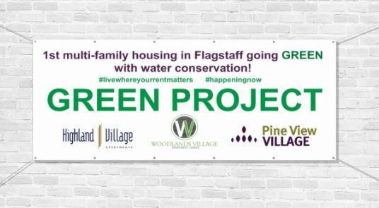 First multi-family housing in Flagstaff going green with water conservation!