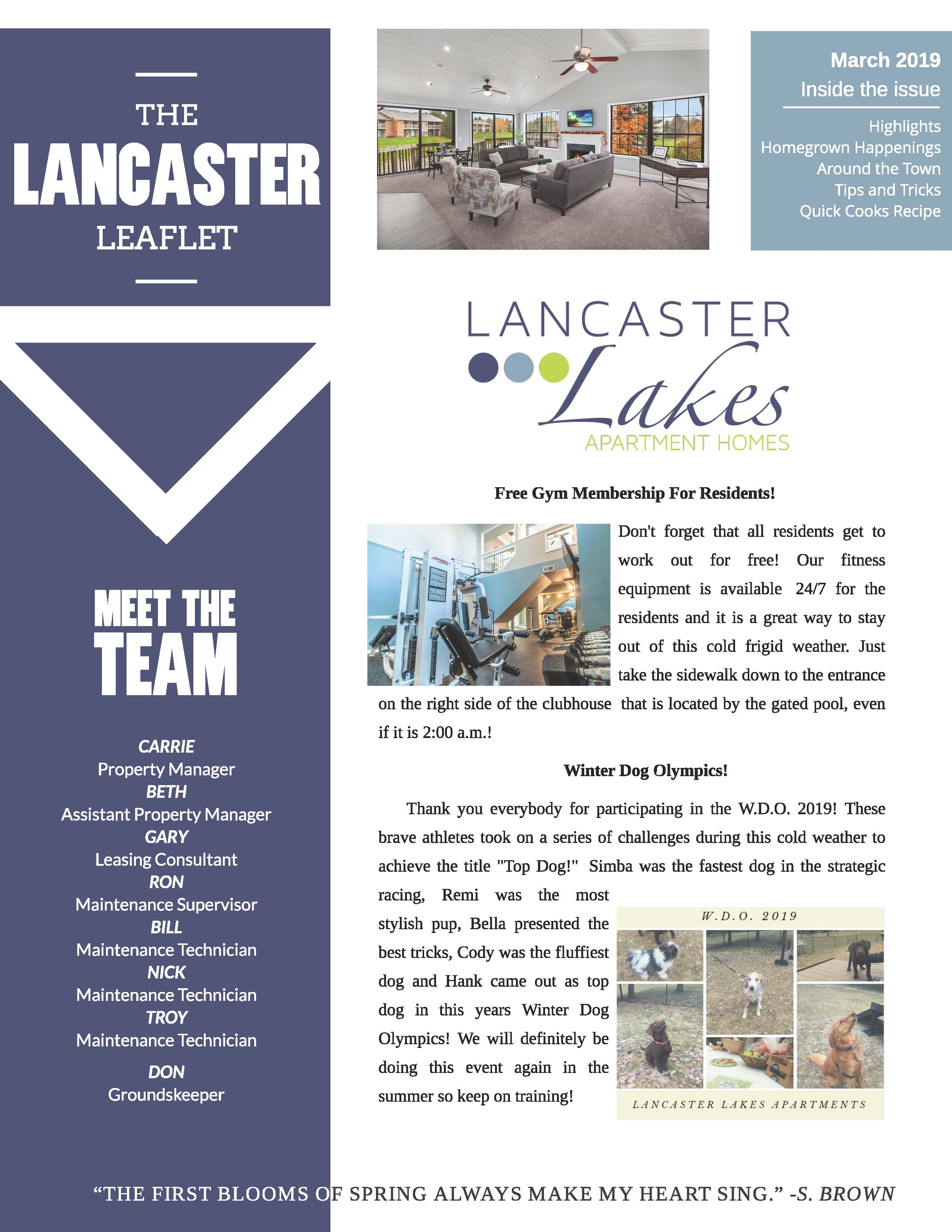 The Lancaster Lakes Community