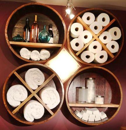 DIY Bath Storage Shelf