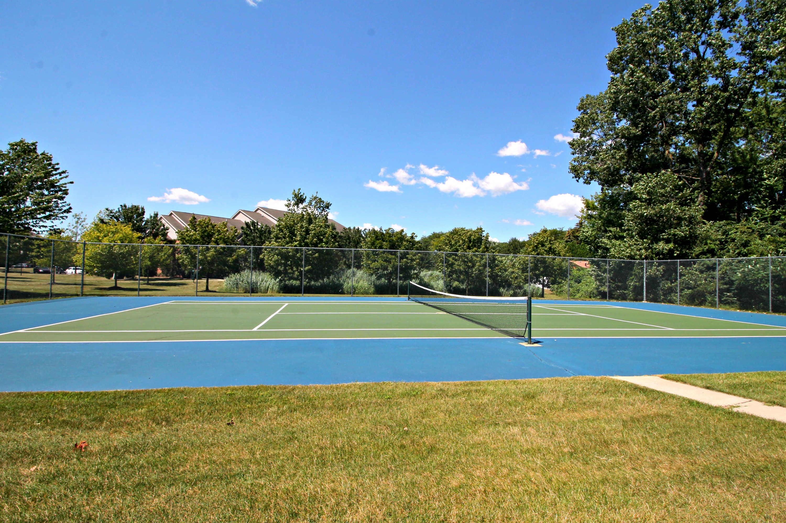 Tennis Court at Chelsea Park Apartments in Taylor
