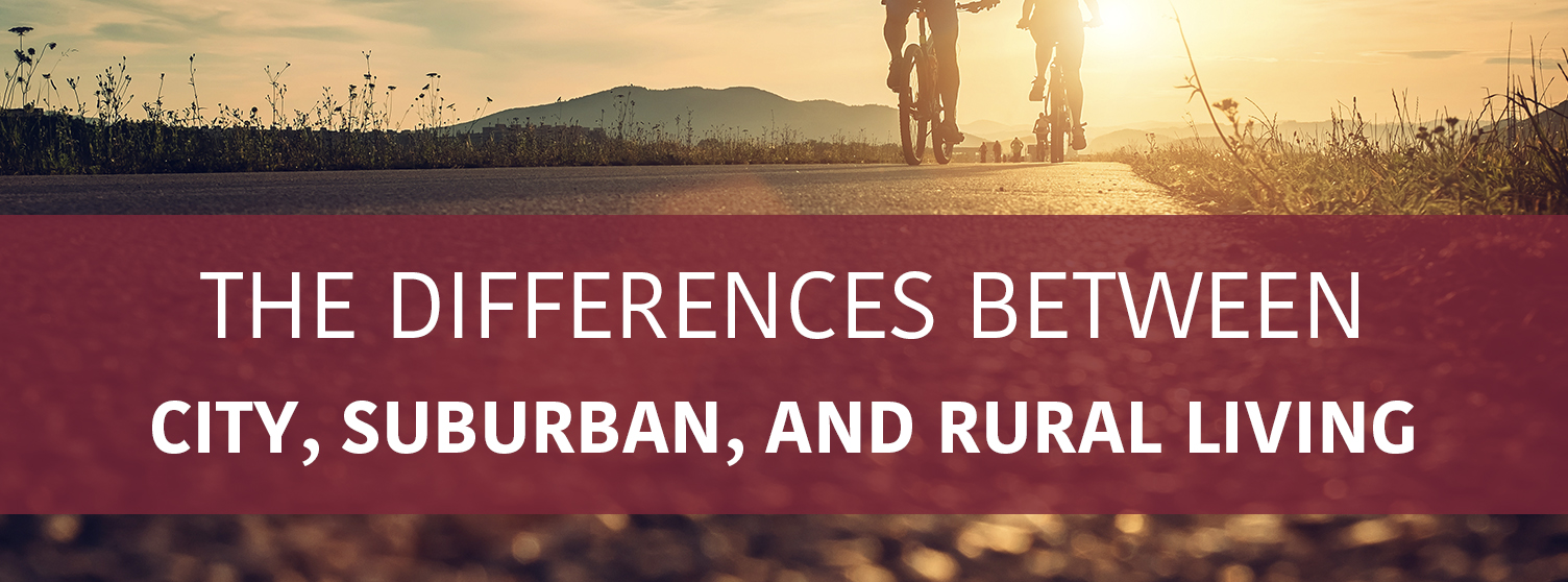 difference between urban and suburban | Property Management, Inc.