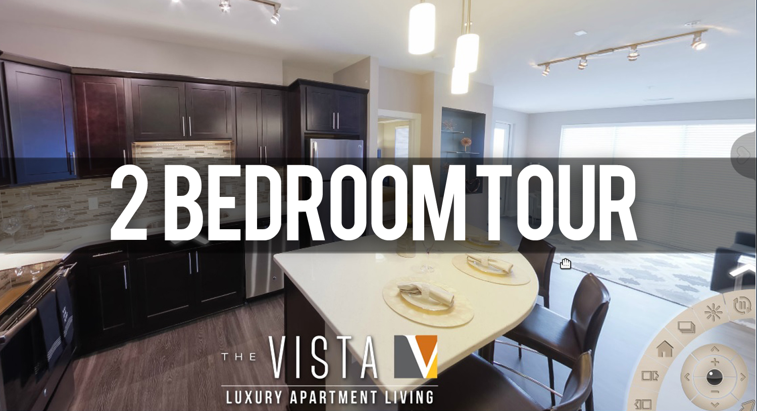 Virtual Tour of 2 Bedroom Floorplan at the Vista at the Heights Apartments