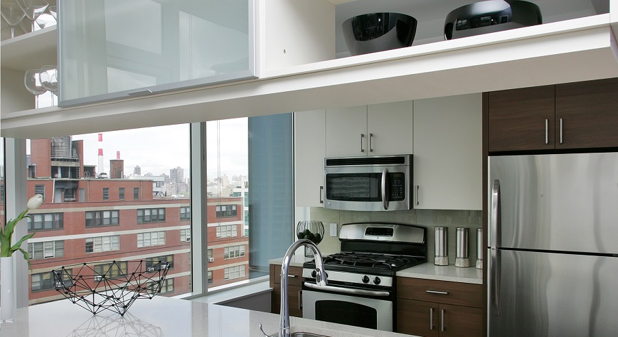 Kitchen at 27 on 27th in Long Island City, NY
