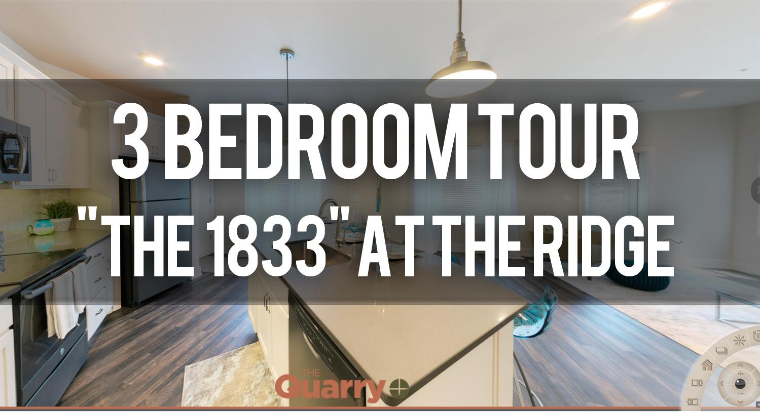 Virtual Tour of The 1833 Floorplan at Quarry Apartments