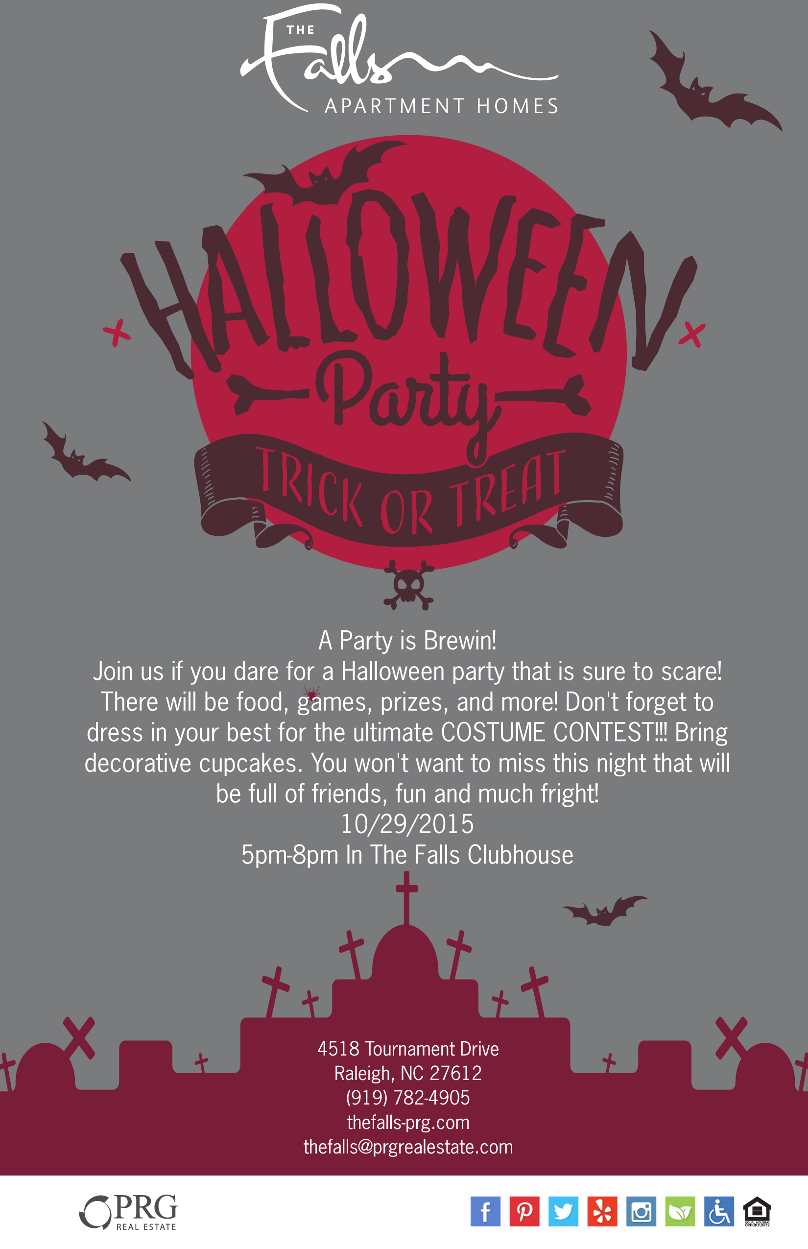 halloween party at the clubhouse