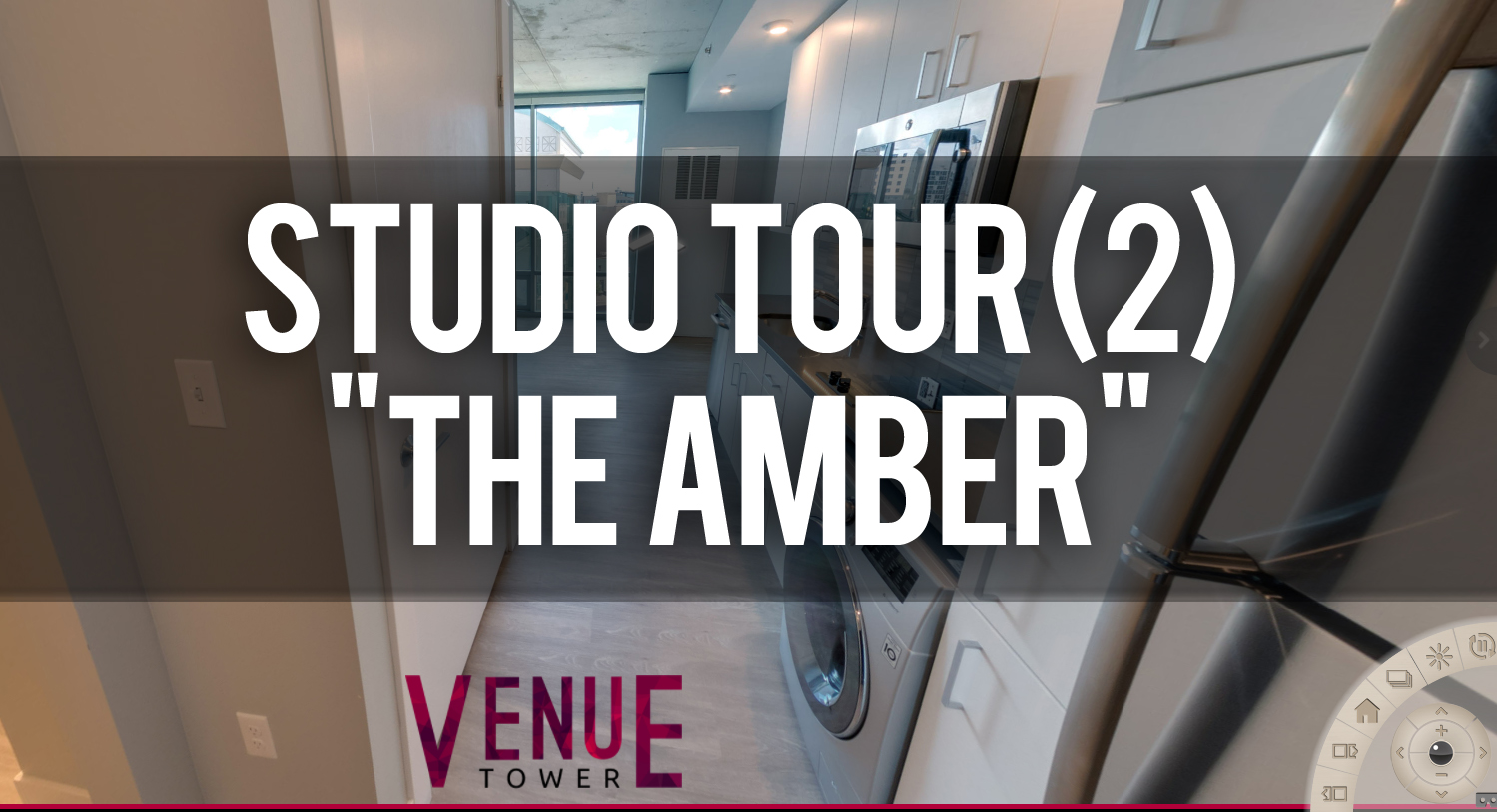 Virtual Tour of The Amber Studio Floorplan at Venue Tower Apartments