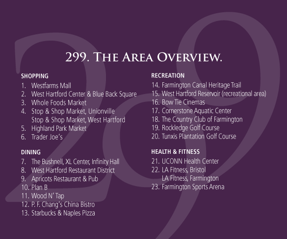 The Residences at 299 Area Overview