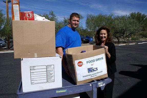 MEB Management Services employees gives back at a food drive