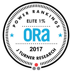 2017 ORA Elite 1% Award from J Turner Research