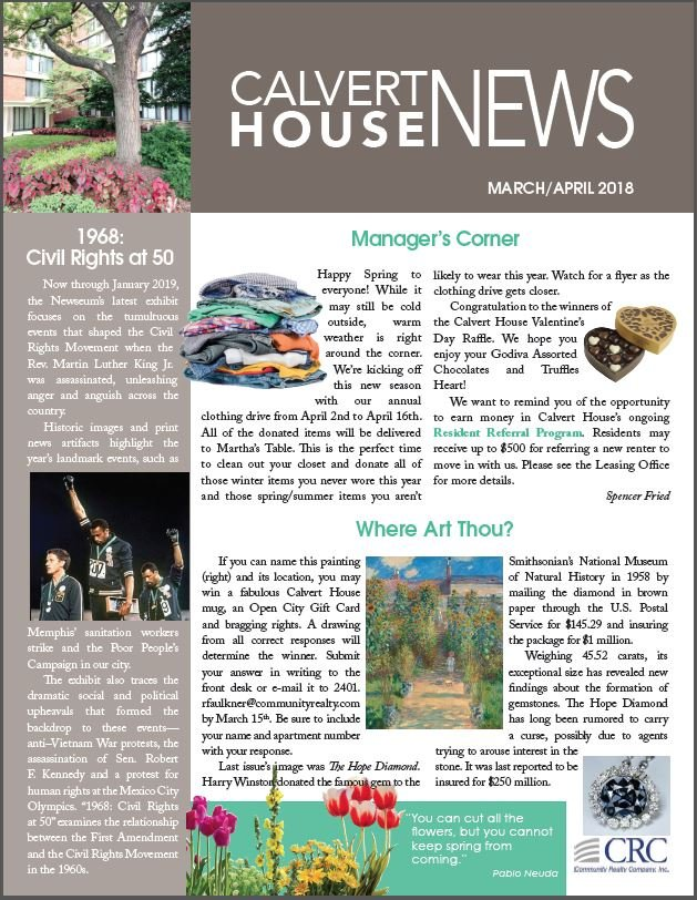 March/April 2017 Newsletter