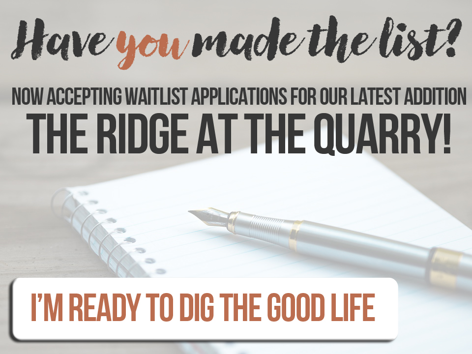 Join the waitlist at the Quarry Apartments