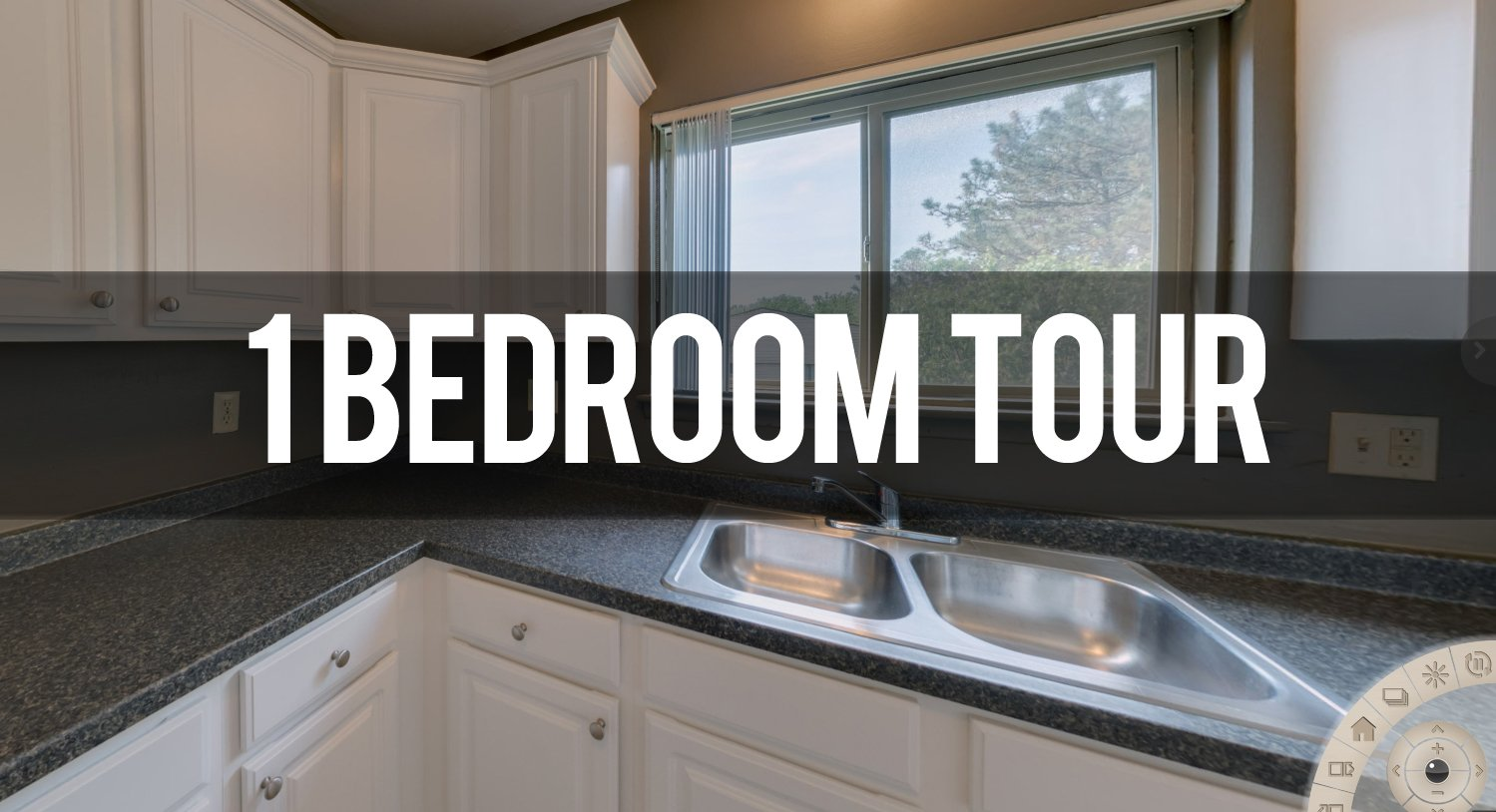 Virtual Tour of 1 Bedroom Floor plan at Capitol Villa Apartments in East Lansing