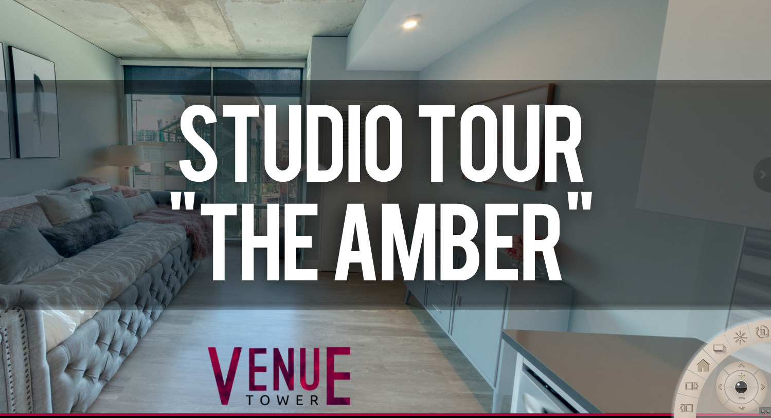 Virtual Tour of Amber Studio with Furniture at Venue Tower Apartments