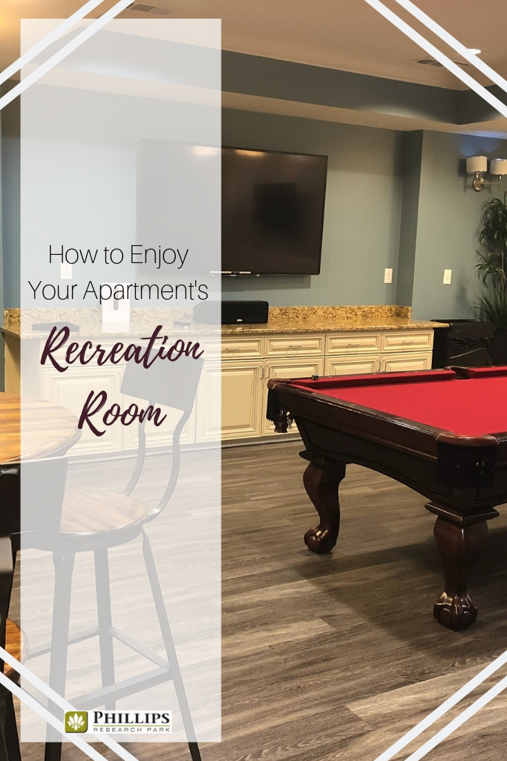 How to Enjoy Your Apartment's Recreation Room | Phillips Research Park