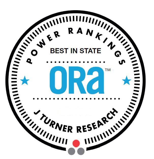 J Turner Research – ORA Power Rankings Best in State