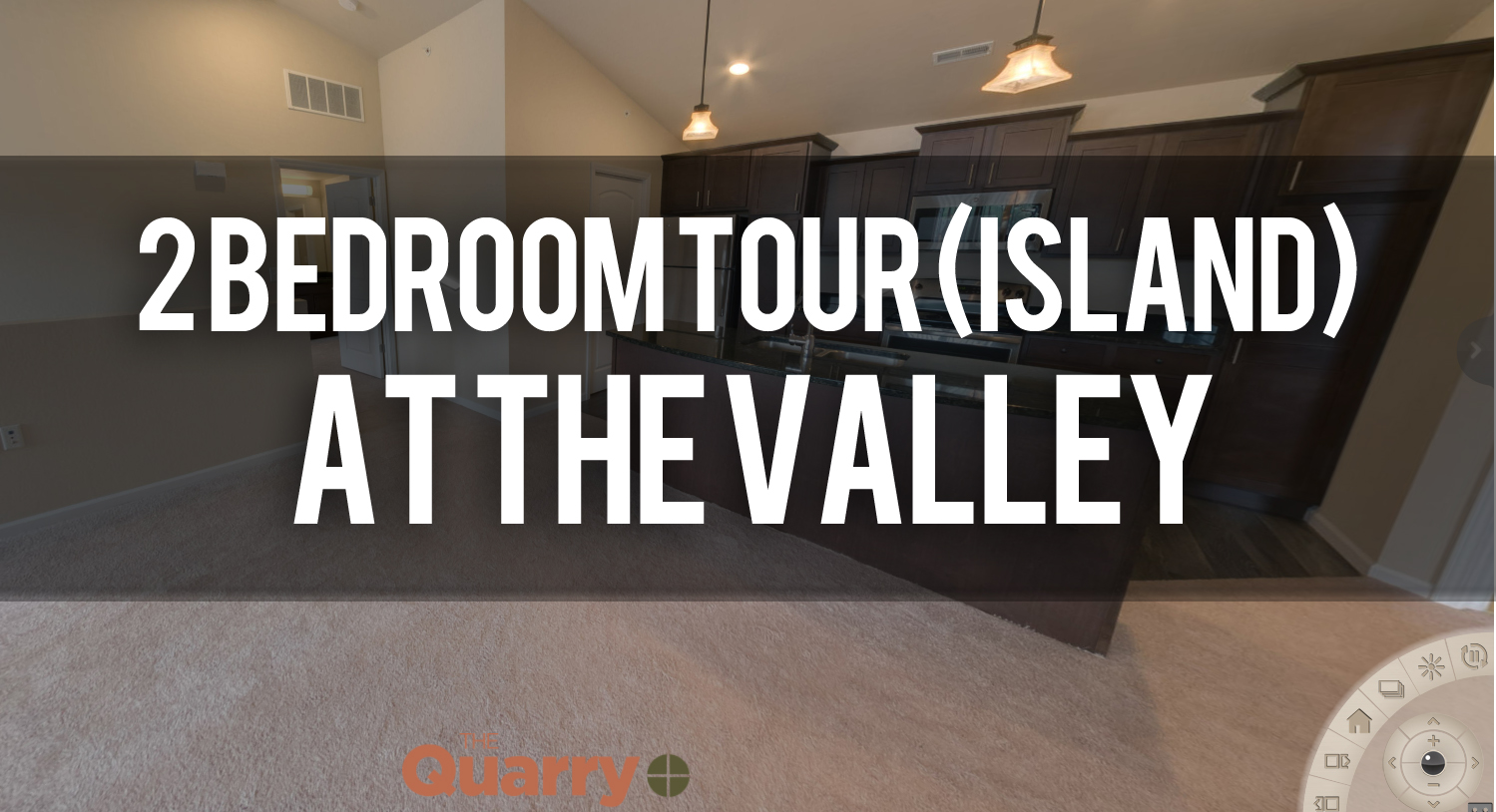 Virtual Tour of 2 Bedroom Island Floorplan at Quarry Apartments