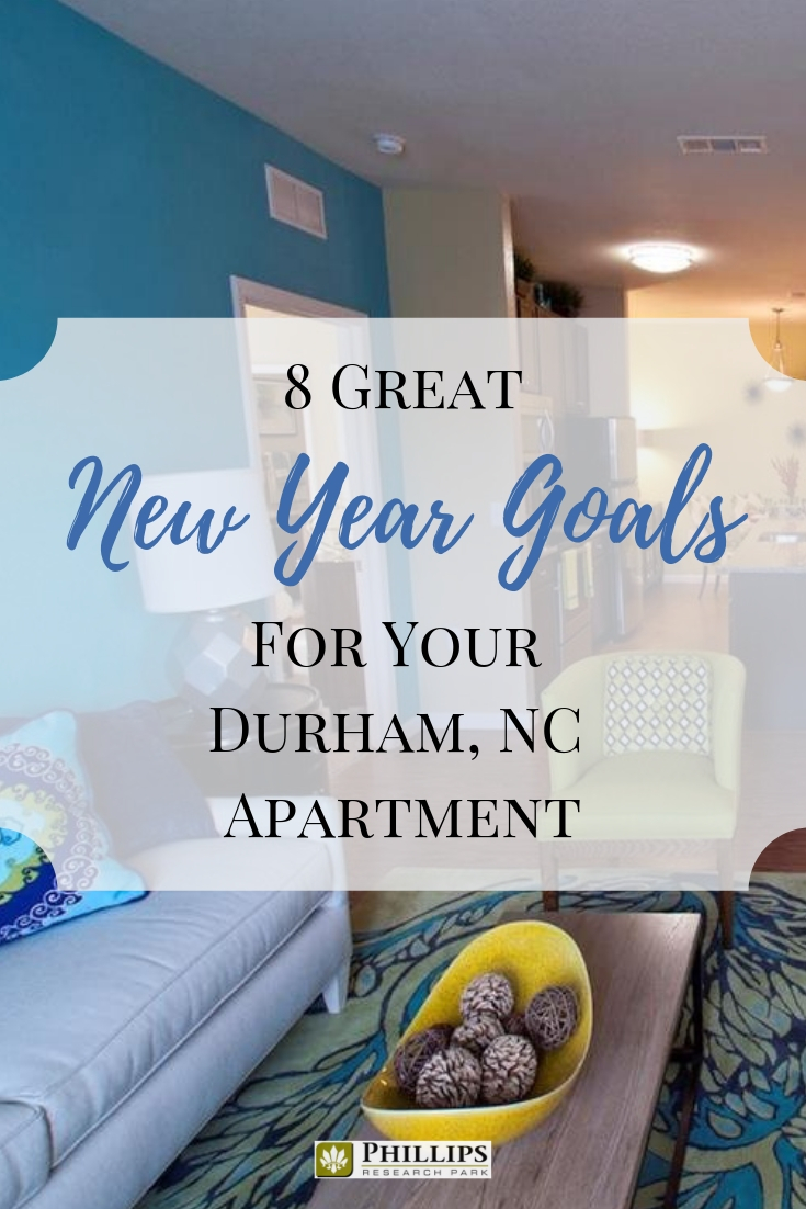 8 Great New Year's Goals for Your Durham, NC Apartment