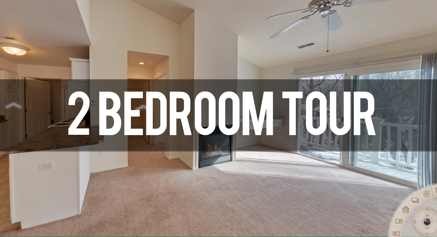 Virtual Tour of 2 Bedroom Apartment at Olde Towne II in East Lansing