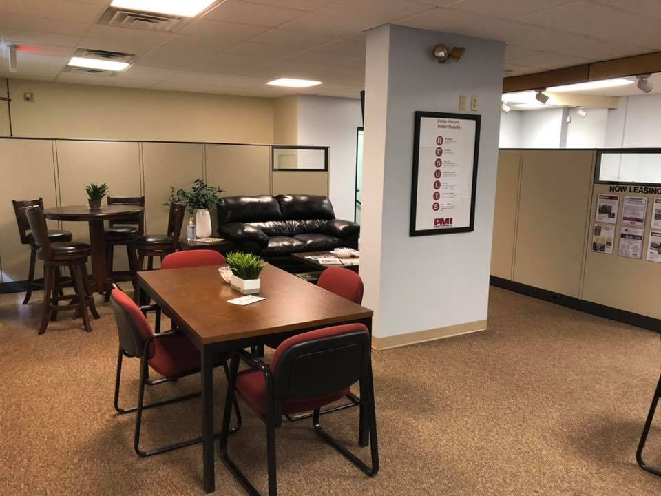 PMI's new State College rental office lobby