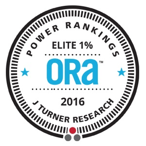 2016 ORA Elite 1% Award from J Turner Research