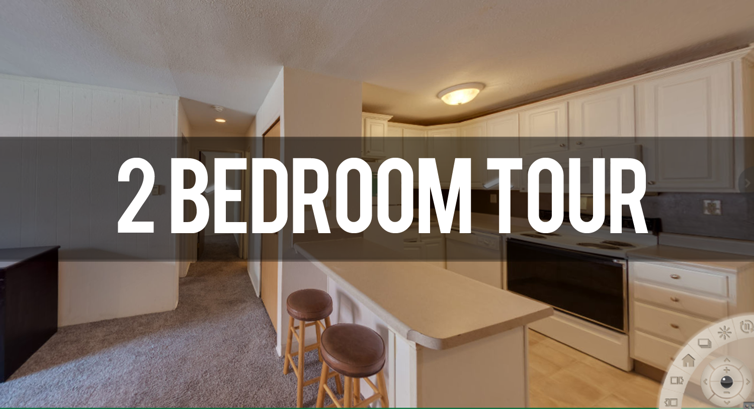 2 Bedroom Virtual Tour at Haslett Arms Apartments in East Lansing | Michigan State University Apartments