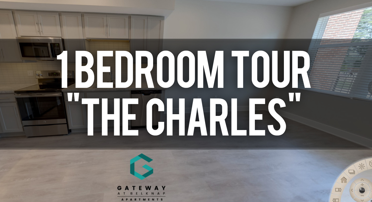 Virtual Tour of The Charles 1 Bedroom Floorplan at Gateway at Belknap Apartments