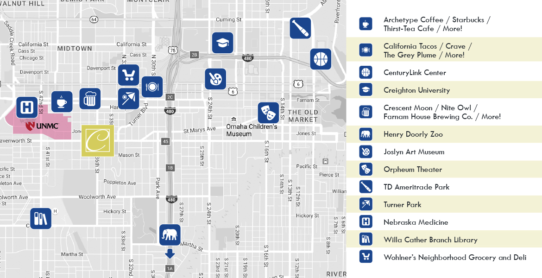 The Conrad Neighborhood Map
