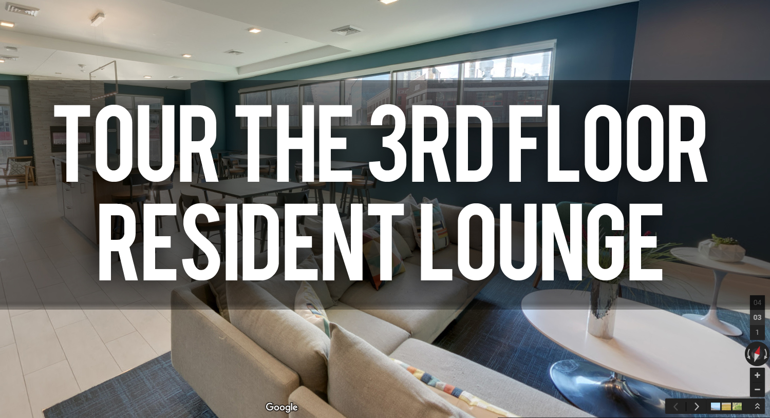 Tour of 3rd floor lounge at Venue Tower Apartments