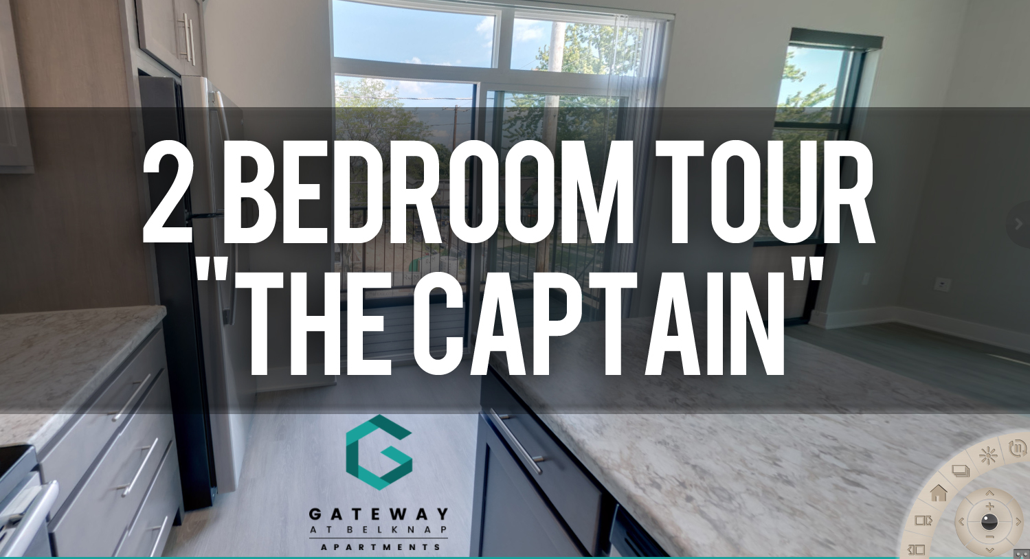 Virtual Tour Gateway at Belknap Apartments 2 Bedroom floorplan The Captain