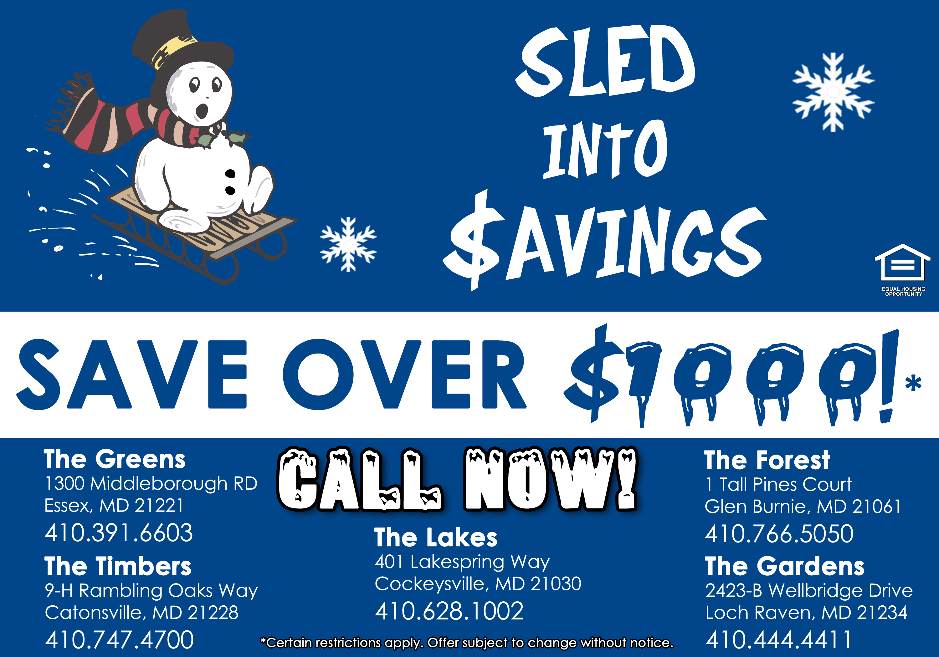 Great Savings on Your New Apartment!