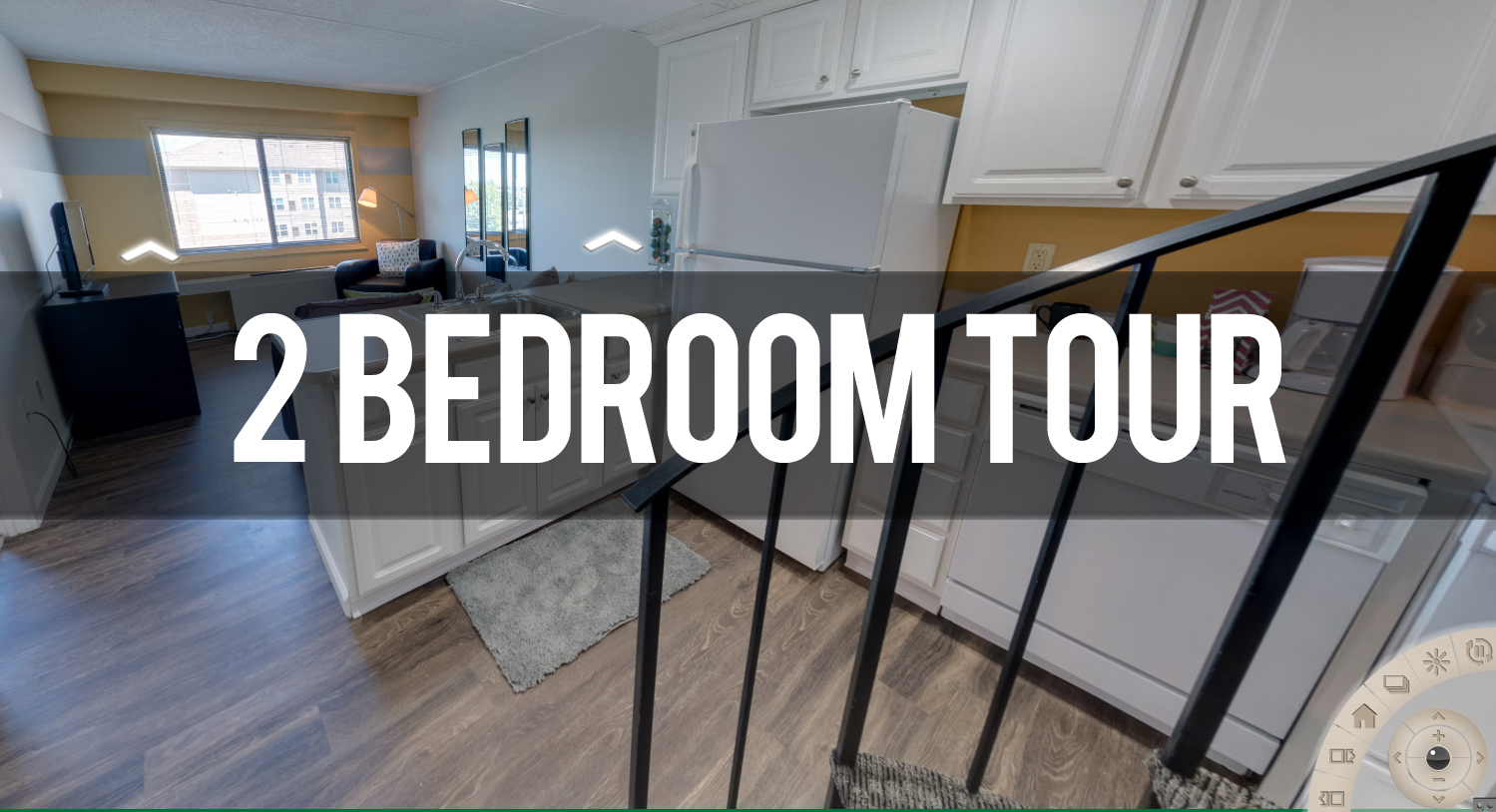 Take a Virtual Tour of 2 Bedroom at the Oaks