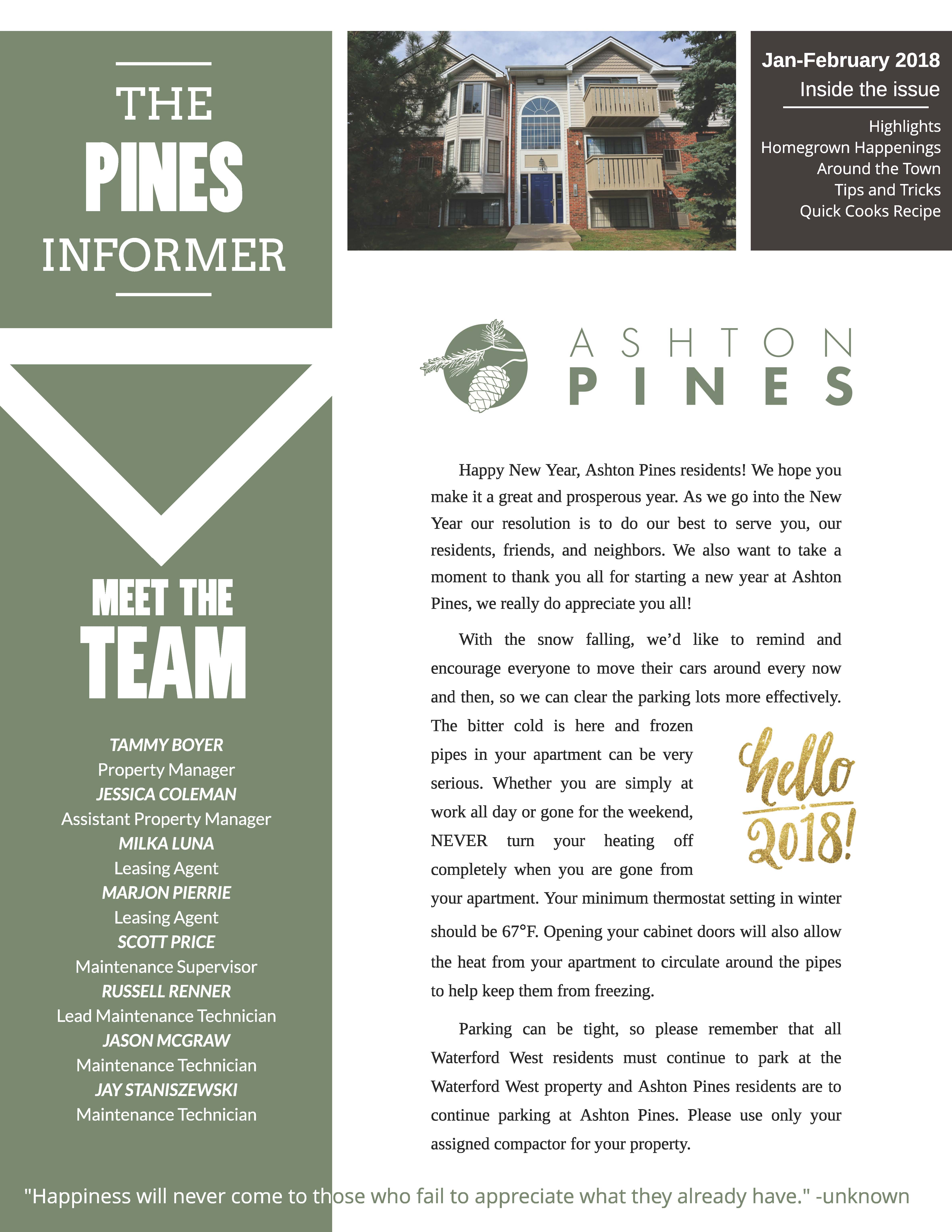 The Waterford Pines Community