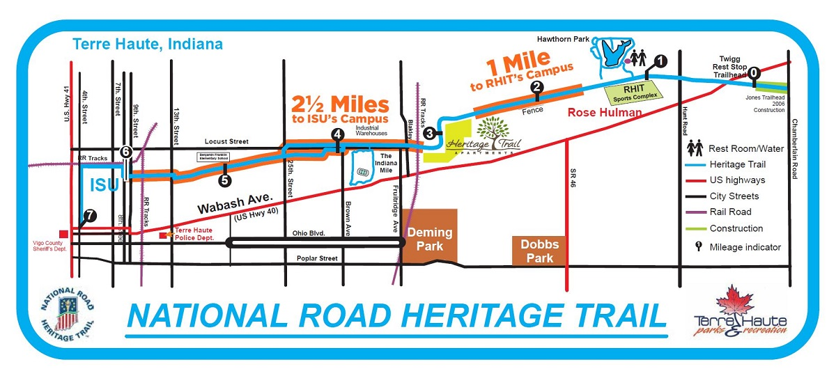 Heritage Trail Apartments are conveniently located along the National Heritage Trail between Indianan State University and Rose Hulman University