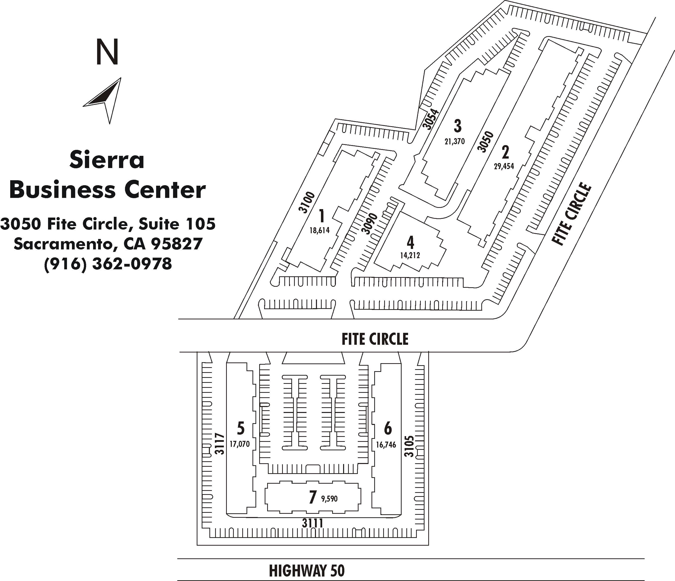 Sierra Business Center Property Map