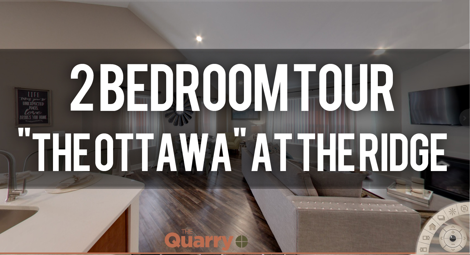 Virtual Tour of The Ottawa Floorplan at Quarry Apartments