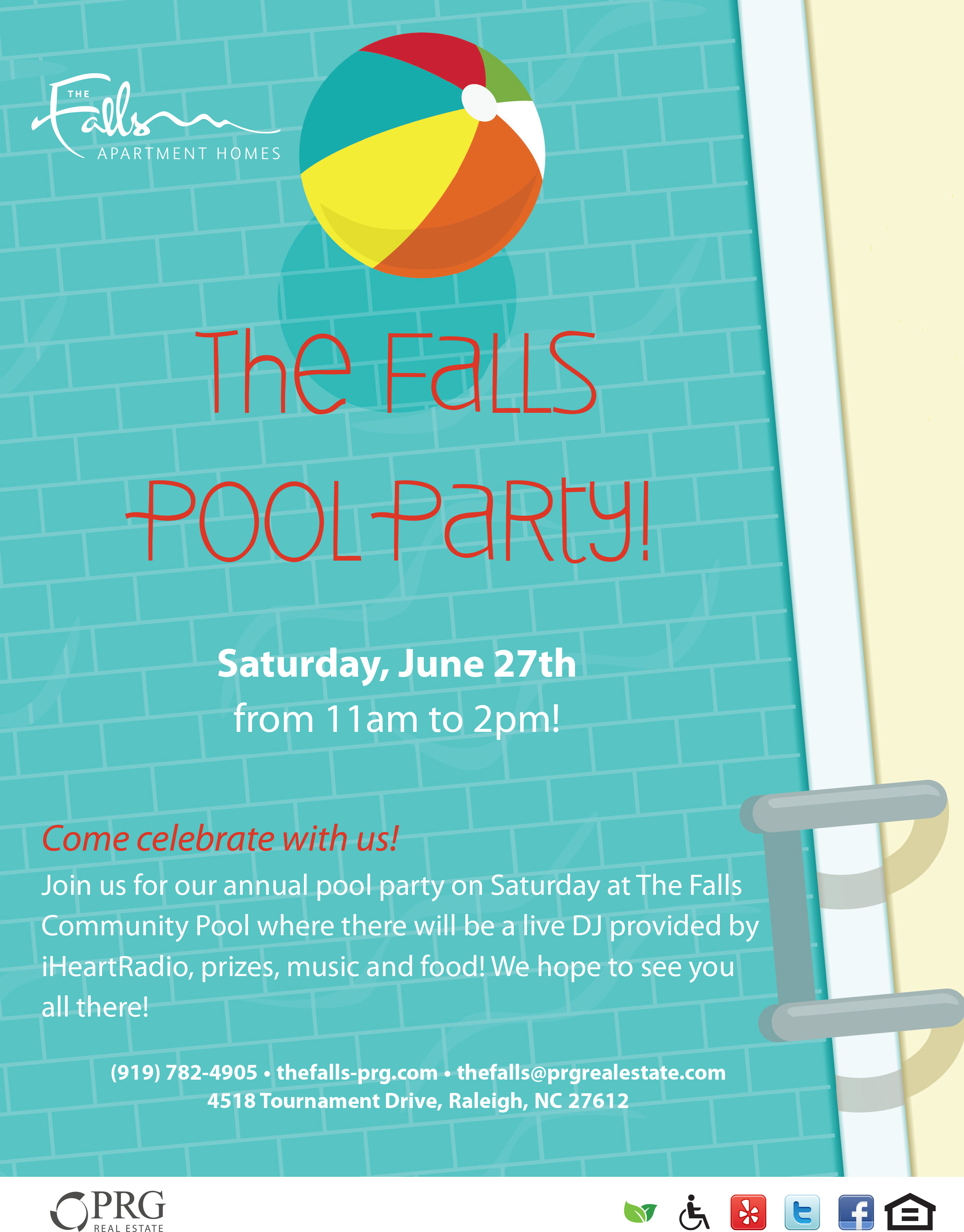 Pool Party | The Falls | PRG Apartments