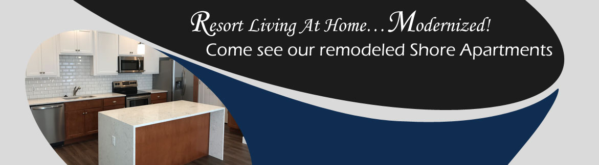 Come see our remodeled Shore Apartments