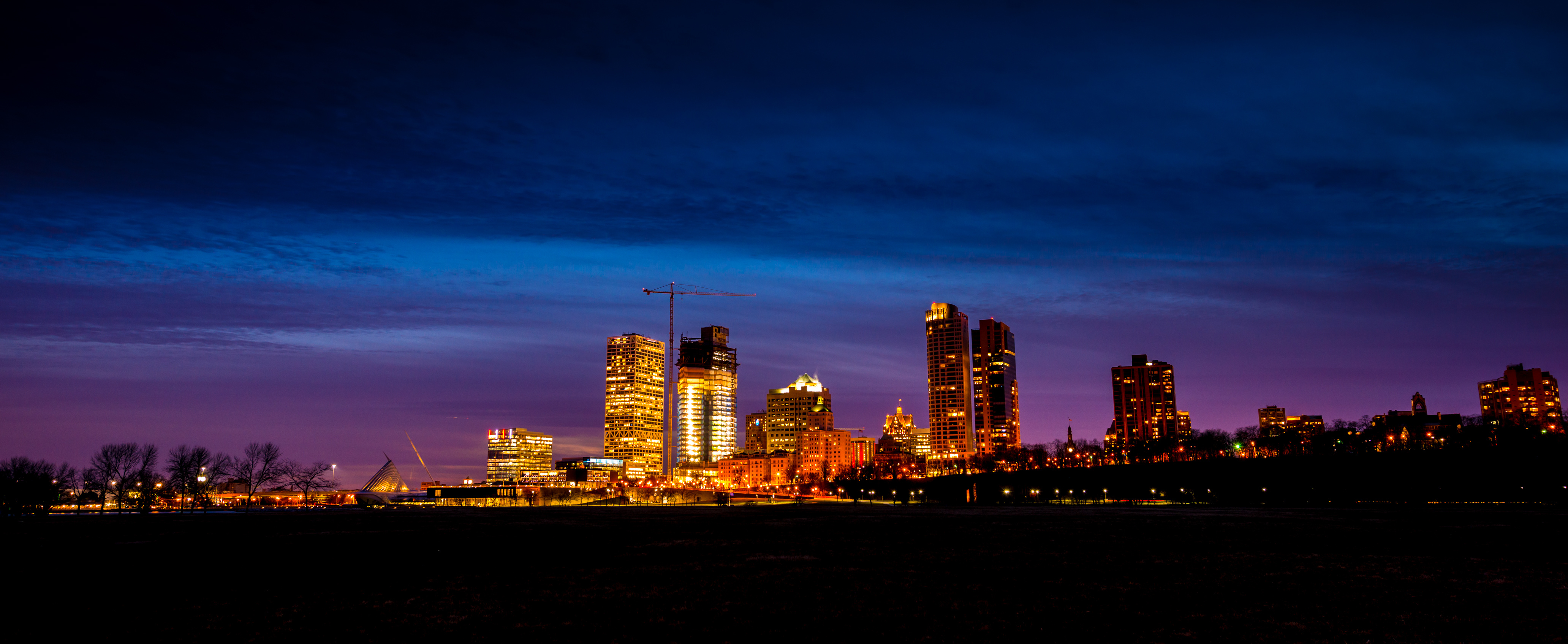 Milwaukee Night Skyline