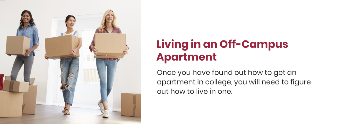 Living in an off-campus apartment