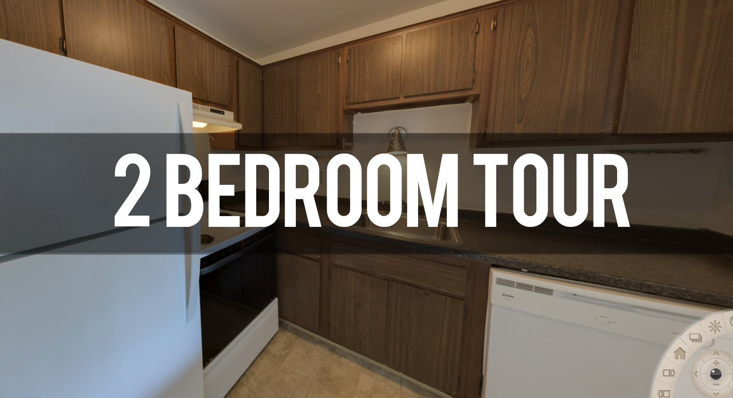Virtual Tour of 2 Bedroom Floor plan at Capitol Villa Apartments in East Lansing