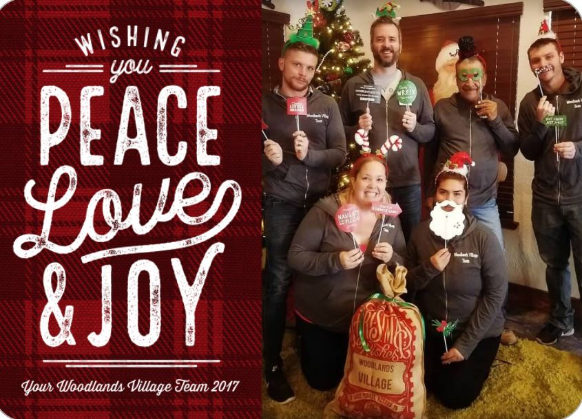 Wishing You Peace, Love, and Joy. Your Woodlands Village Team