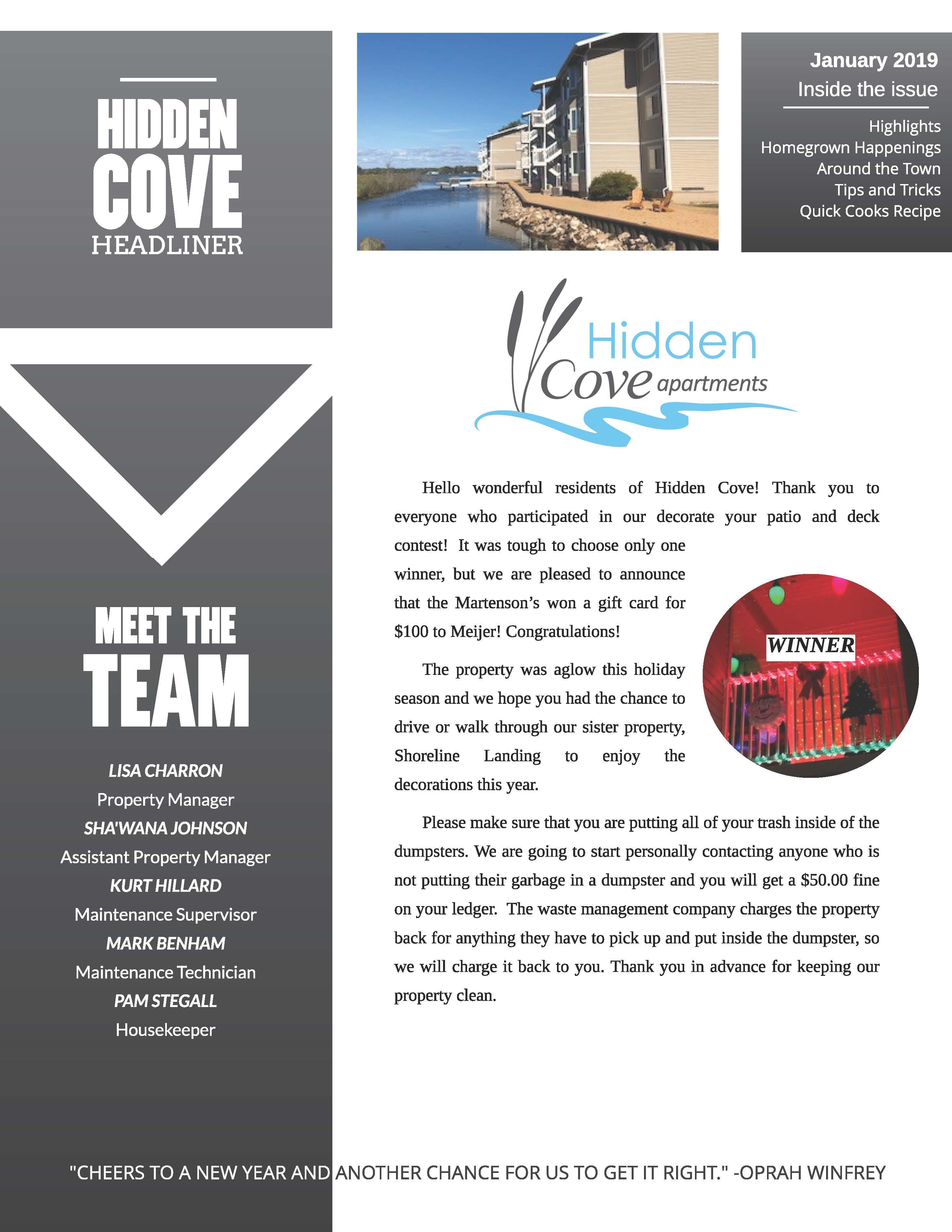 The Hidden Cove Community