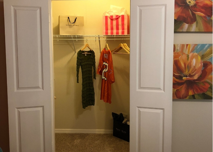 inside of clean closet