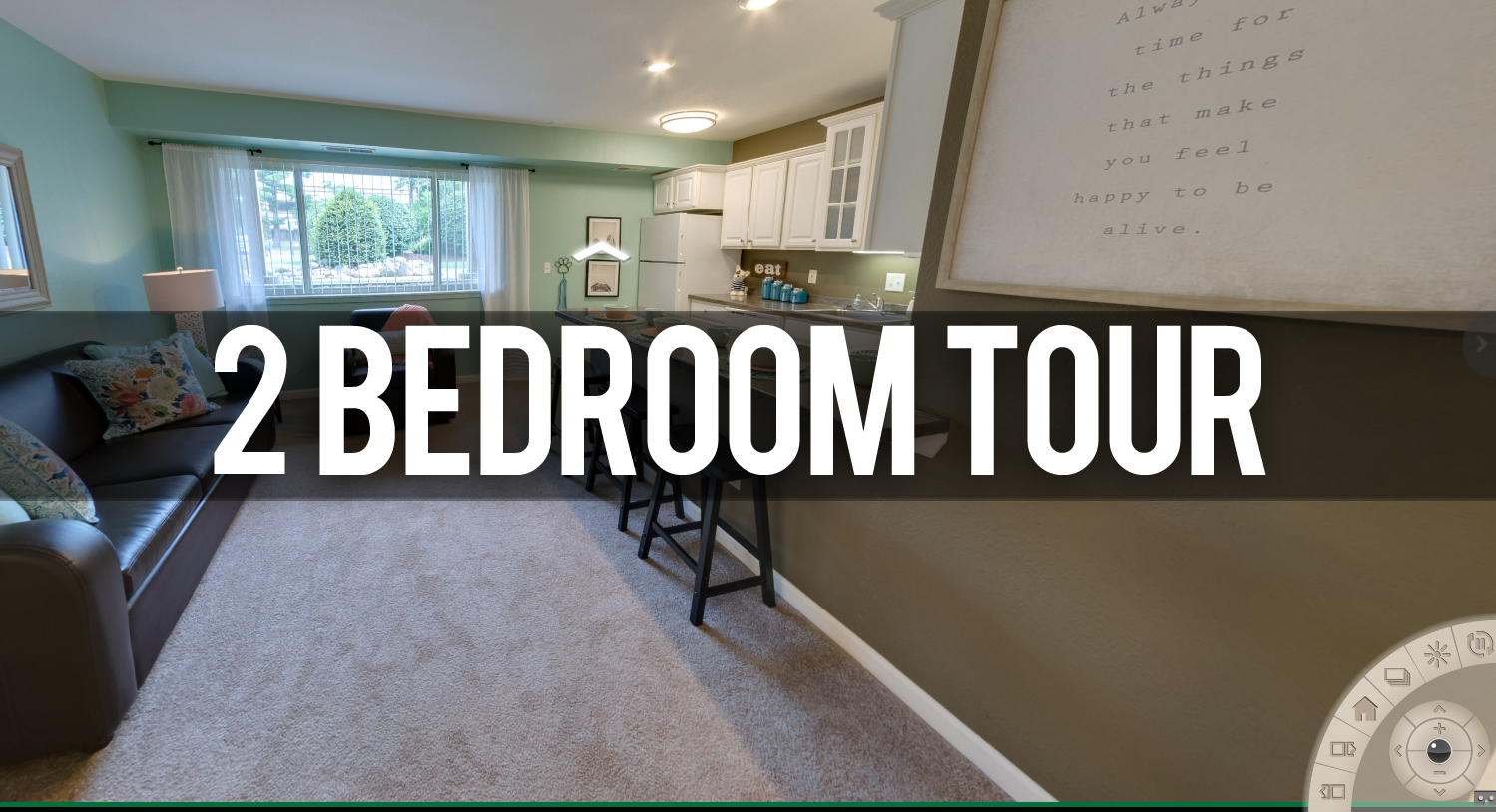 2 Bedroom Tour at Glenwood Apartments Near Michigan State University