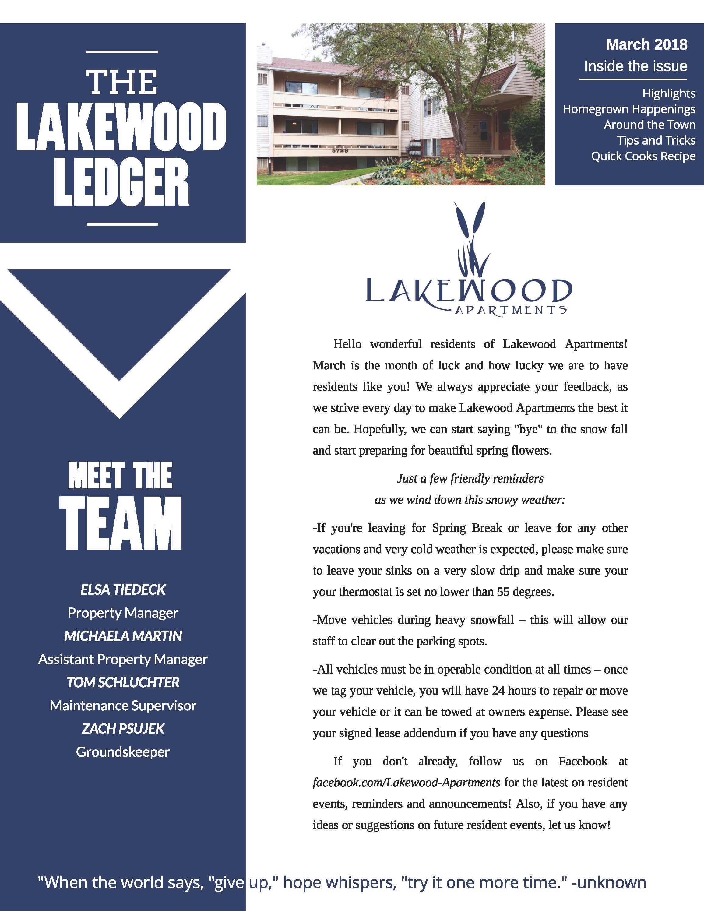 The Lakewood Apartments Community