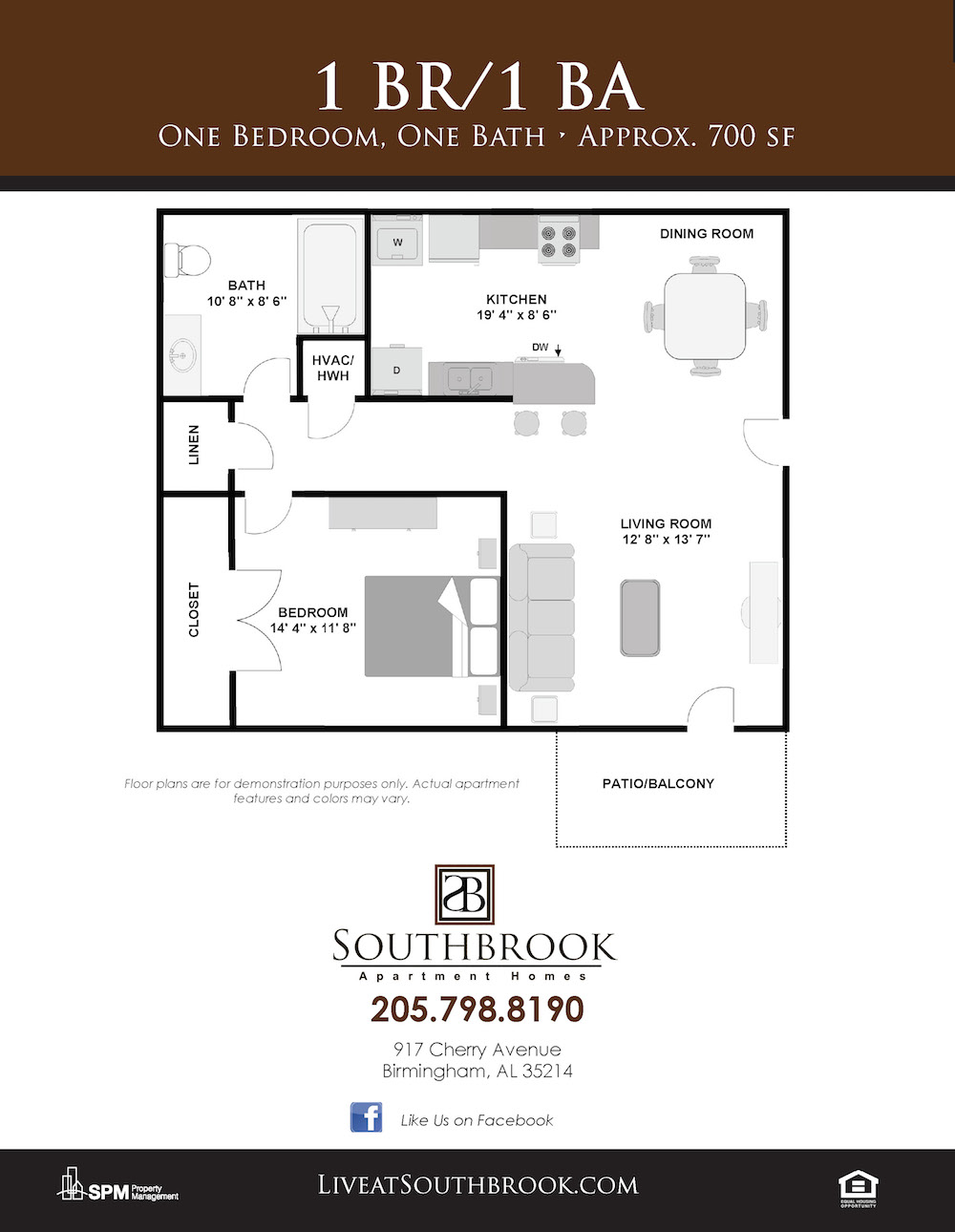 Southbrook apartments in birmingham alabama phase two construction of one bedroom one bathroom apartments