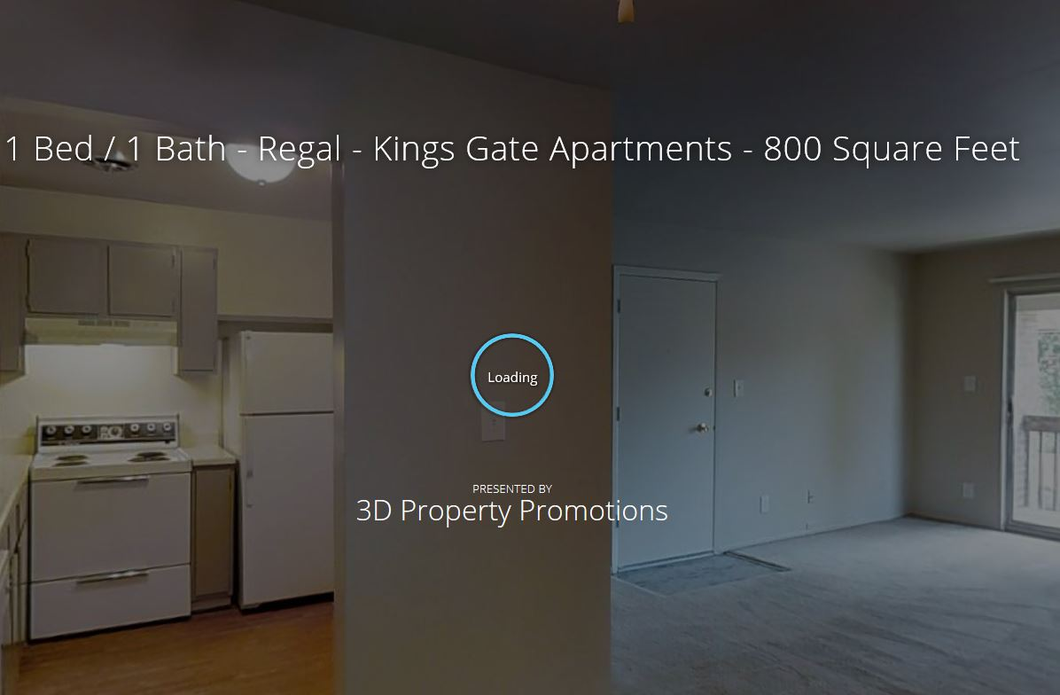 3D Tour of Kings Gate 1 Bedroom Apartment Home